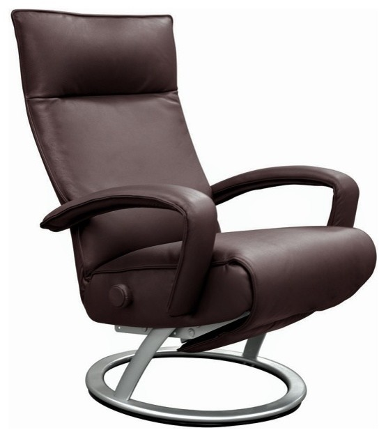 Gaga Recliner Leather Recliner Lafer Recliner Chair, Brown