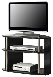 Swivel TV Stand, Black