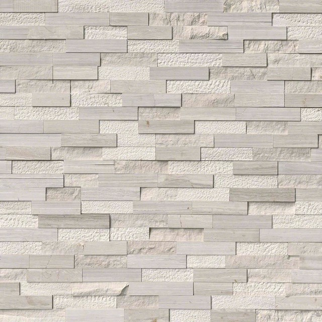 White Oak Multi Finish Stacked Stone, Multi Finish, 6x18, Marble, Hardscape  Traditional