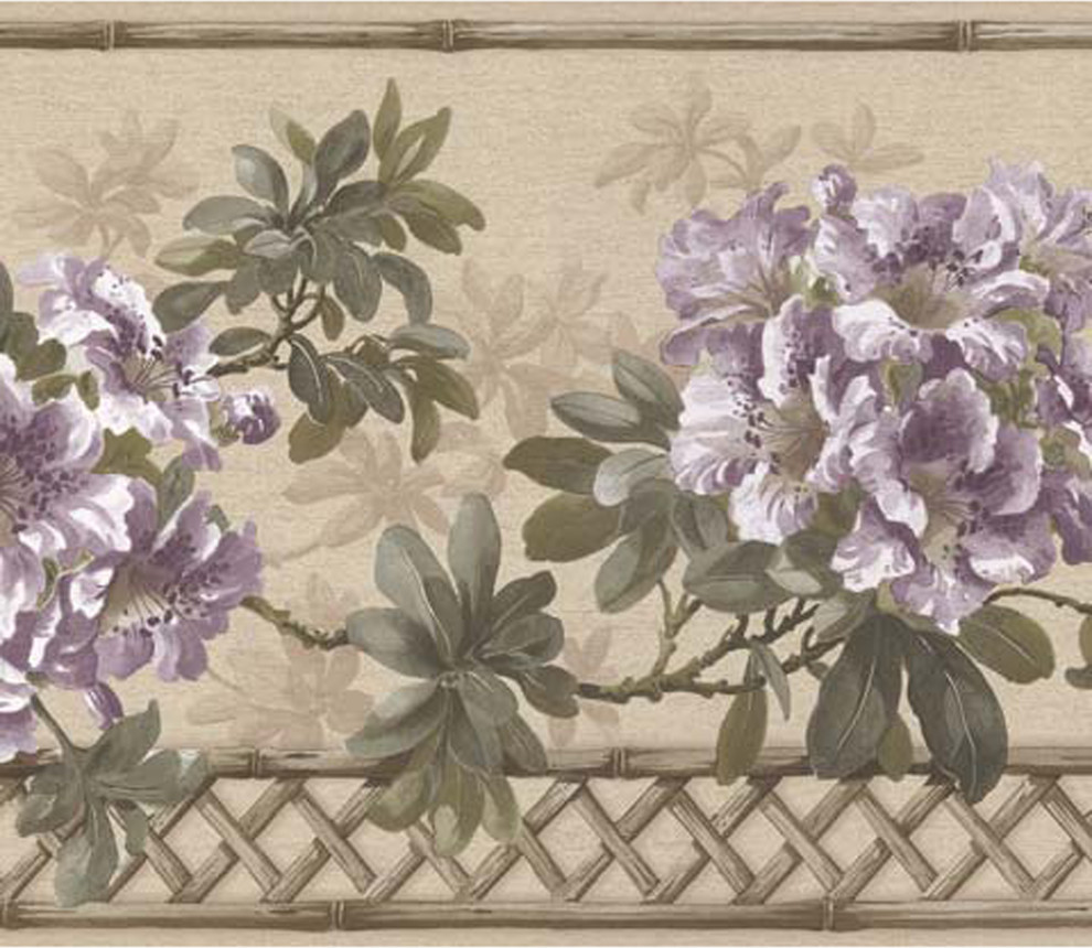 Wallpaper Borders Floral Wallpaper Border Prepasted Traditional