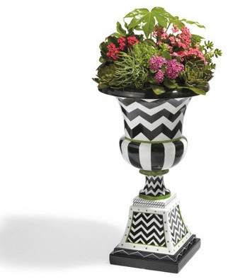 Zoey Urn Traditional Outdoor Pots And Planters By Grandin Road