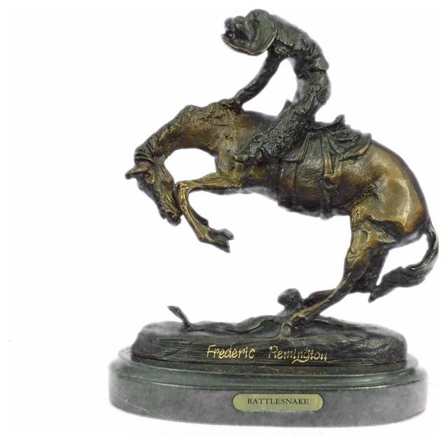 WOOLY CHAPS by F Remington Bronze Metal Sculpture Statue Cowboy Western Decor