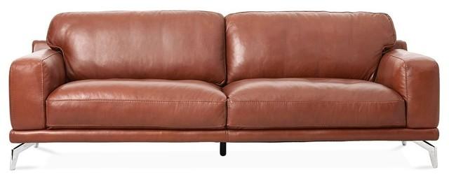 Peruna Leather Sofa, Cognac Sk 297