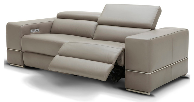 Modern Luxor Reclining Sofa With Power, Modern Reclining Sofas