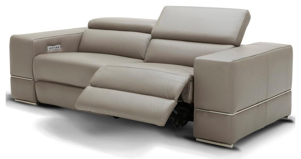 Modern Luxor Reclining Sofa With Power, Modern Recliner Sofa Design