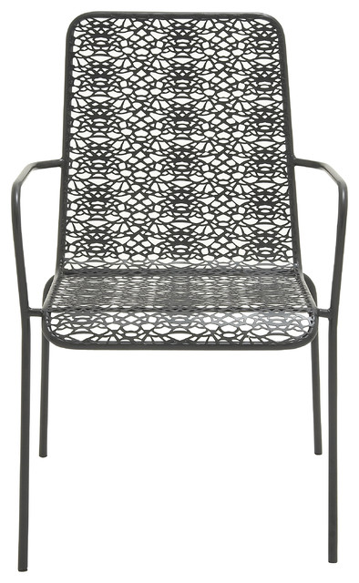 benzara chic looking metal outdoor chair