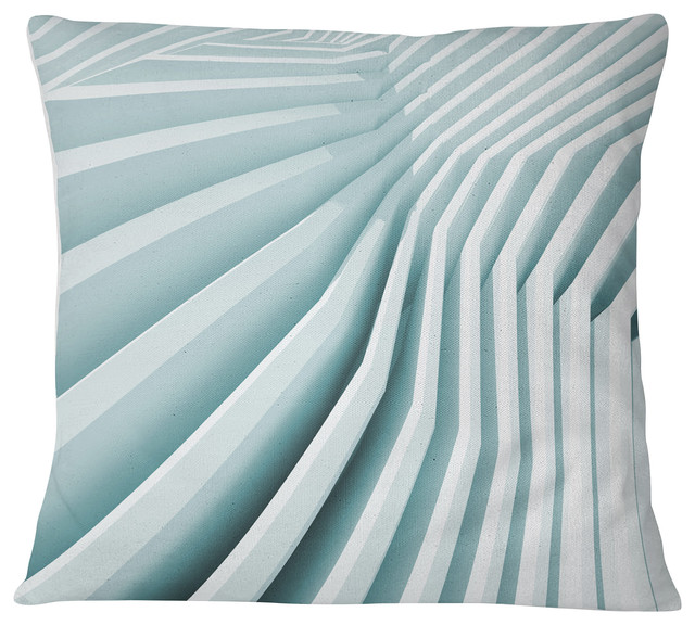 Fractal Architecture 3D Waves Contemporary Throw Pillow, 18\