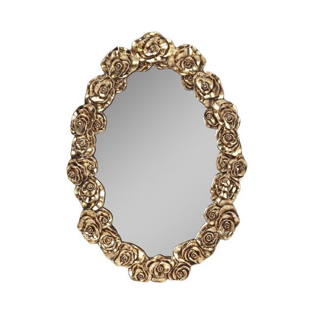 Rosalinda Gold Wall Mirror - Gold.
