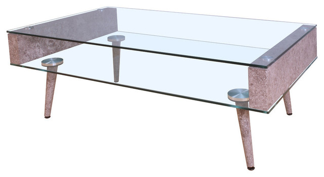 Acme Boyd Coffee Table, Clear Glass