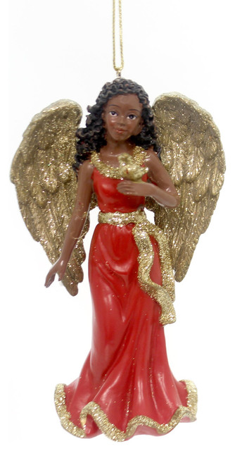 Holiday Ornaments African American Angel Resin Ornament ...
