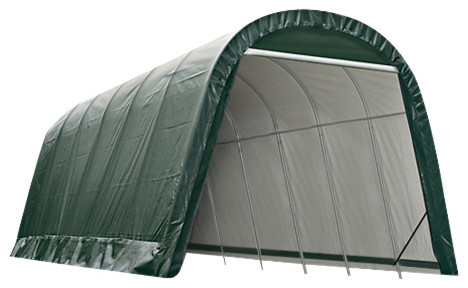 13&x27;x24&x27;x10&x27; Round Style Shelter, Green.
