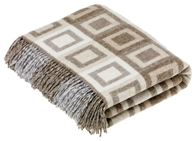Geometric Double Square Throw Natural.