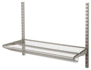 "freedomRail 24"" Tiered Ventilated Shelf - Nickel"