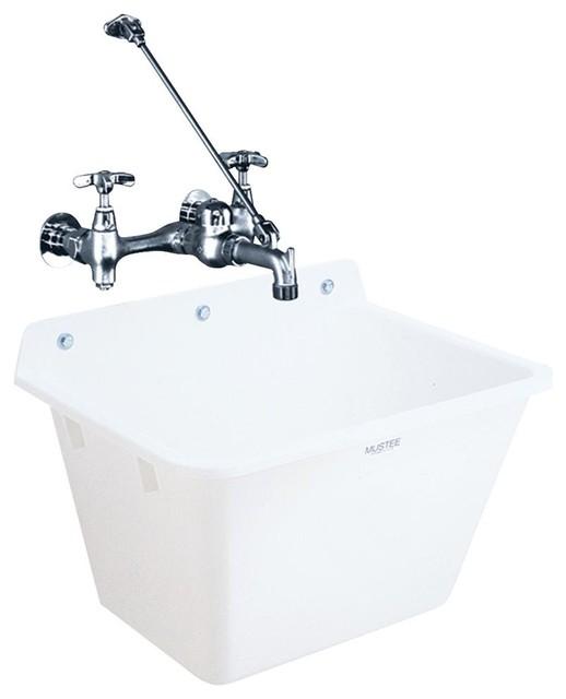 Mustee, E. L. Wall Mount Sink 16K
