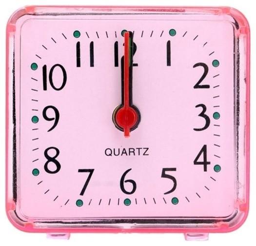 Mini Alarm Clock Portable Transparent Clear Quartz Desktop Digital