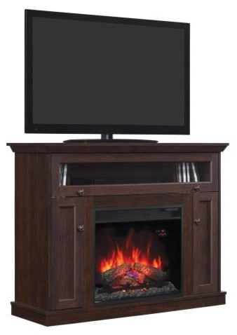 Classicflame Windsor Tv Stand With 23 Infrared Quartz Fireplace Antique Cherry View In