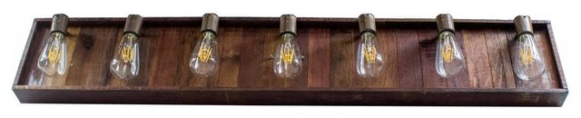 Vinum Collection, Aquila Extended, Wine Tank Wood Vanity Light