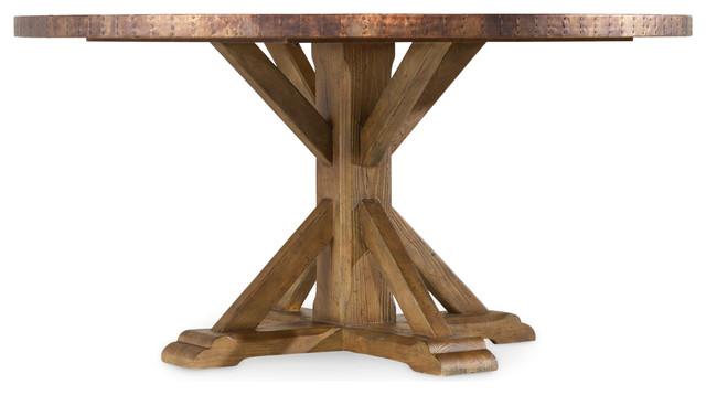 Sanctaury Round Copper Dining Table