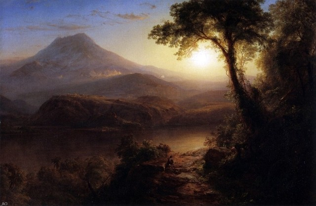Tropical Scene by Frederick Edwin Church Giclee Fine ArtPrint Repro on Canvas