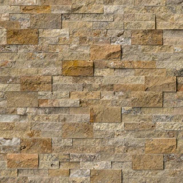 """12""""x12"""" Tuscany Scabas Stacked Stone Panels Corner, Set Of 50."""