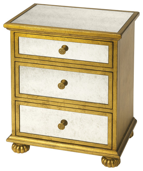 Grable Gold Leaf Accent Chest