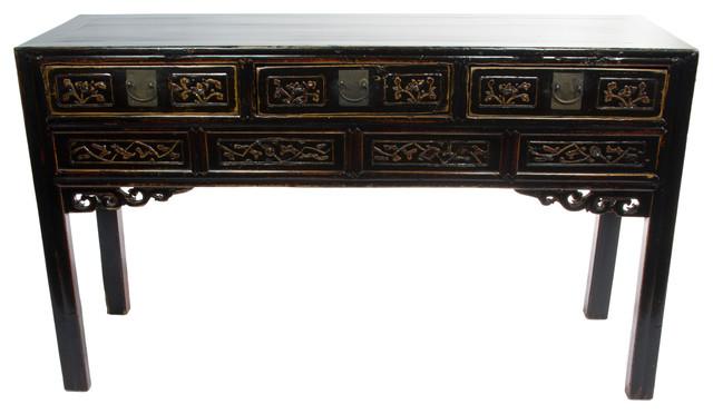 Consigned Black Antique Writing Desk