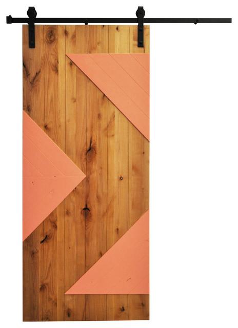 Barn door wood zig zag 48 x96 with hardware for 48 inch barn door