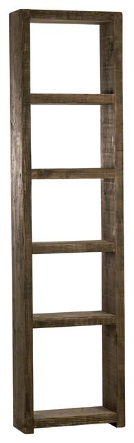 Reclaimed Wood Bookcase, Dark Wood