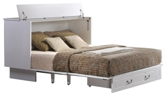 Cottage Creden Zzz Queen Cabinet Bed Transitional