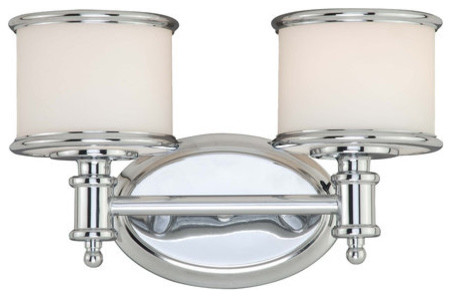 Carlisle Bathroom Vanity Light, Chrome.