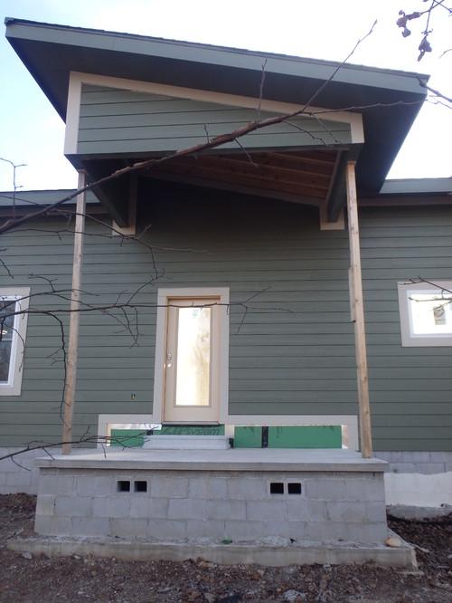 Modern Farmhouse Rustic Front Porch Posts Design Question?