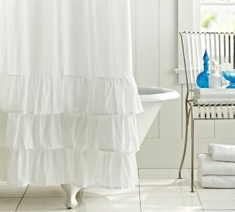 Ruffle Shower Curtain contemporary shower curtains
