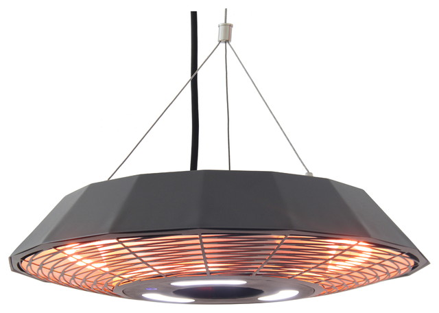 Infrared Electric Outdoor Heater, Hanging Modern Patio Heaters