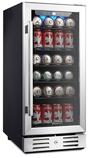 Beverage Refrigerator 96-Can Built-In Single Zone Touch, 15.