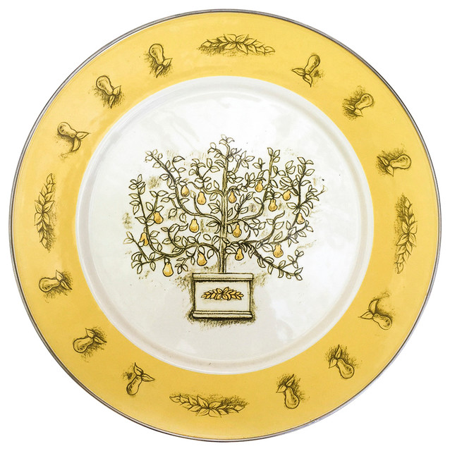 Tin Pear Tree Plate Farmhouse Decorative Plates By