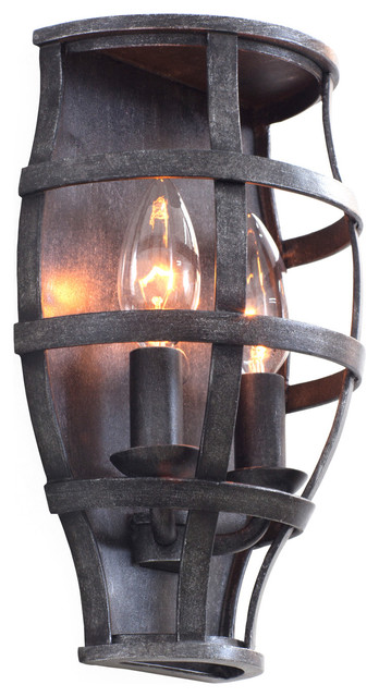Industrial Iron Wall Sconces : Shop Houzz Kalco Lighting Limited KALCO Lighting 7491VI Townsend Vintage Iron ADA Wall Sconce ...
