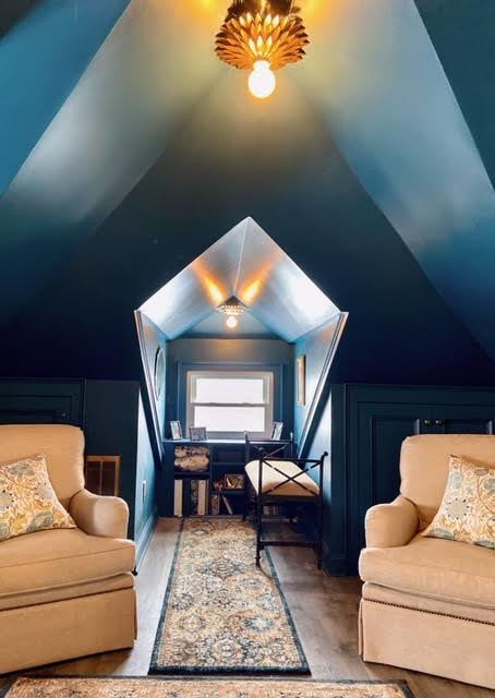 Attic Conversion with built in Snuggery beds - Watch Hill, RI