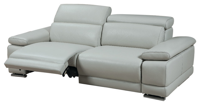 Grace Electric Motion Sofa, Adjustable Neck Rest Cushions, Light Gray