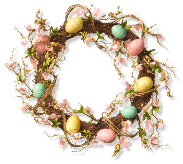 """18"""" Easter Egg Wreath."""