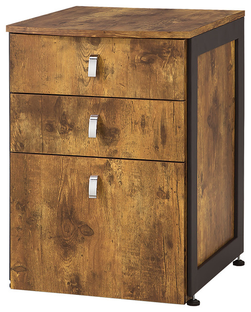 Estrella File Cabinet With 3 Drawers Industrial Filing Cabinets
