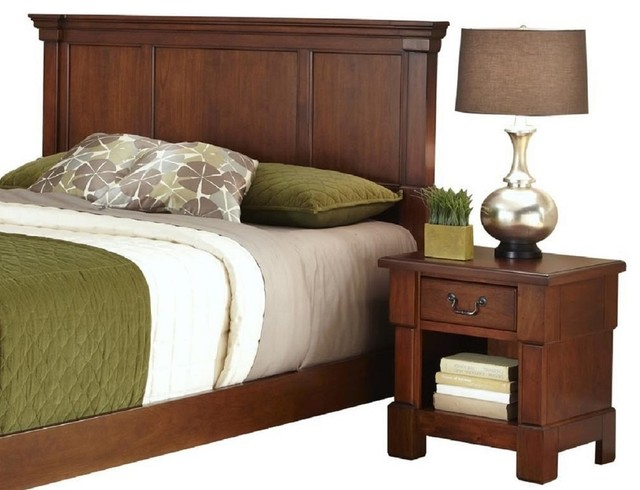 The aspen collection king california king headboard and for Transitional bedroom furniture