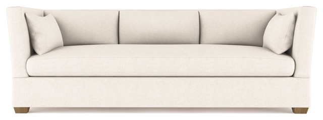 Rivington 8' Velvet Sofa, Alabaster, Classic Depth