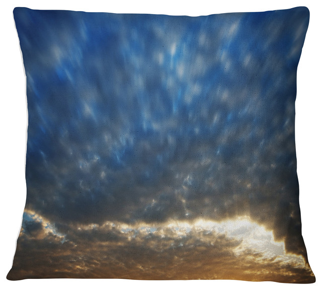 Amazing Dramatic Blue And Brown Skies Modern Seascape Throw Pillow 26X26 Bralicious Painted Fabric Chair Ideas Braliciousco