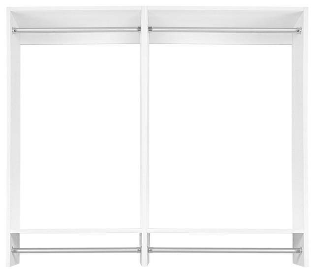 5 1 2 39 double hanging modular closet organizer contemporary closet organizers by modular. Black Bedroom Furniture Sets. Home Design Ideas