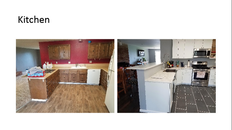 Solid Surface Countertops with All Wood Cabinets
