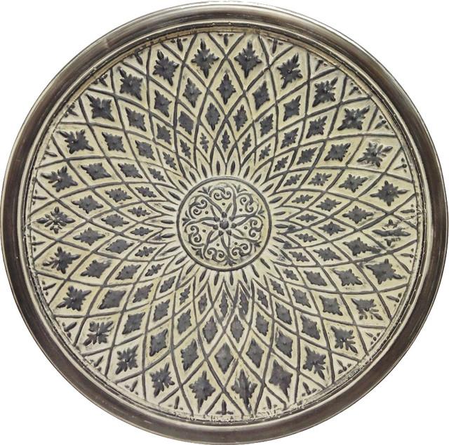 Round Filigree Metal Wall Medallion