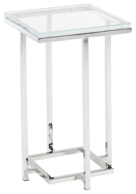 Lexington Mirage Stanwyck Glass Top Accent Table 458-954c.