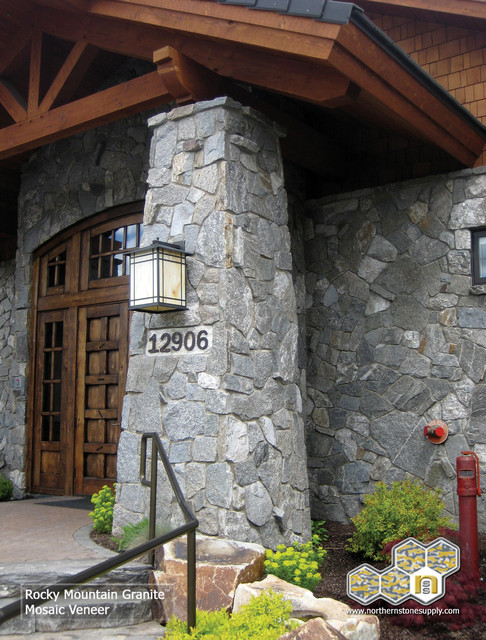 Natural Stone Veneer Building With Rock Modern Exterior Other By Northern Stone Supply
