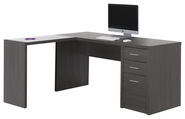 Monarch Tempered Glass Computer Desk Cappuccino Finish
