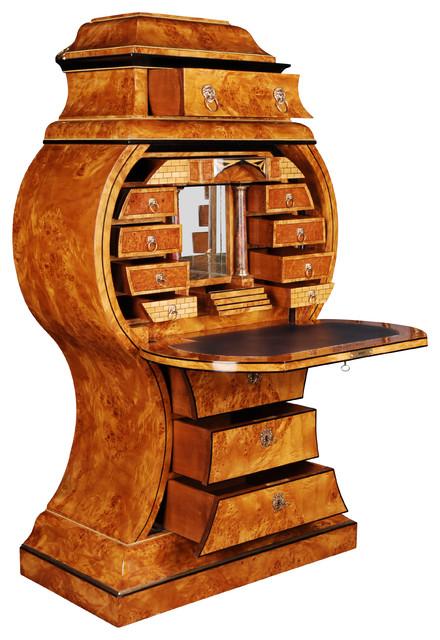 Extremely Rare Secretary Desk Vienna Biedermeier Style